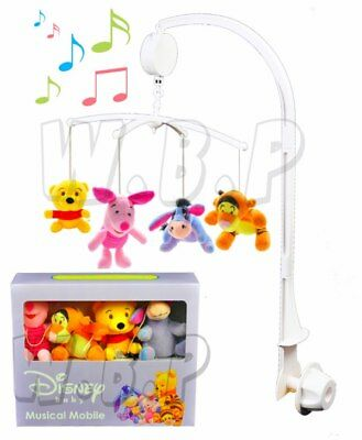 Baby Smooth Musical Mobile + Light Nursery Toddlers Bell Animal Toys Cot Bed 0M+