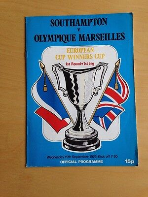 Southampton v Olympique Marseilles - Cup Winners' Cup - 15/9/1976