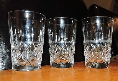 Stuart Crystal Glasses x 3