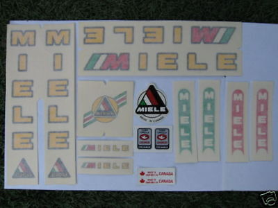 Yellow Miele Bike Bicycle Decal Sticker Set Vintage Not Remade! Free Shipping!!