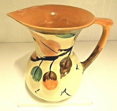 Myott Hand Painted Art Deco Jug. Lovely Warm Colours. Excellent Condition.
