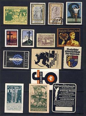 Cinderella Stamps-Early Germany-Nice Lot On Page From 1903-Automobile Etc
