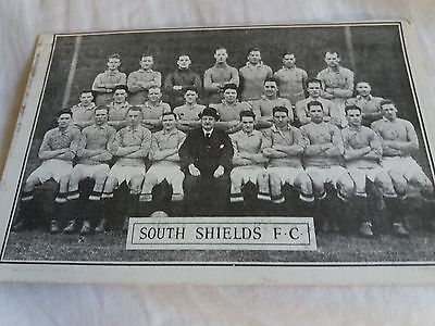 Football Postcard Of South Shields Fc (League Days With Adverts Mega Rare