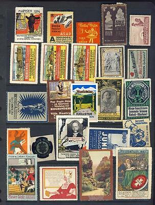 Poster/cinderella Stamps-Nice Lot-Gd Range Of Subjects/products Countries Etc-3