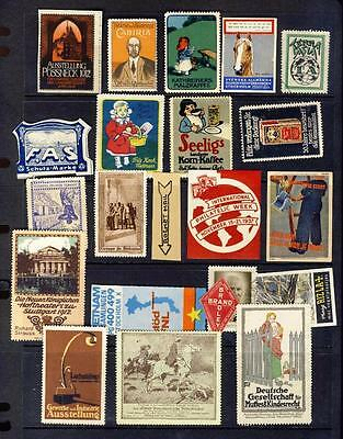 Poster/cinderella Stamps-Nice Lot-Gd Range Of Subjects/products Countries Etc-4
