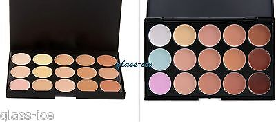 Palette con 15 correttori in crema make up /fondotinta, set trucco viso