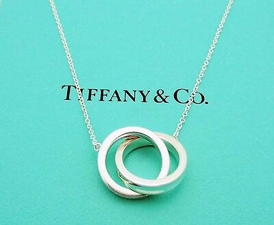 "Tiffany & Co. 1837 Interlocking Circles Pendant 18"" Necklace in Sterling Silver"