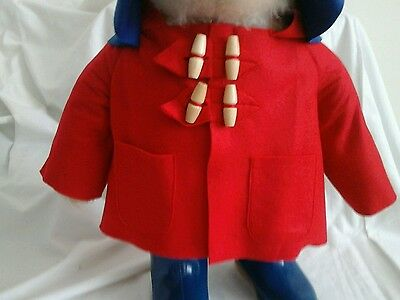 NEW RED COAT for YOUR Gabrielle Paddington Bear  (see other listings )