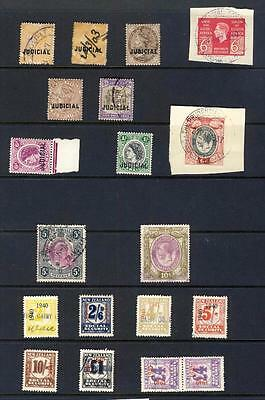 BR COMMONWEALTH-NICE LOT REVENUE STAMPS-QV TO 2sh&5sh/QE2 UNM-NZ TO £4x2 ETC -2