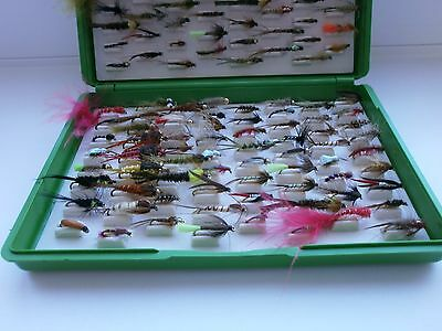 Fox Box with 136 Mixed Trout Fly Fishing Flies