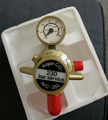 Argon Co2 BIG Welding Regulator 230 BAR 1 Gauge Single Stage for Welder Bottle