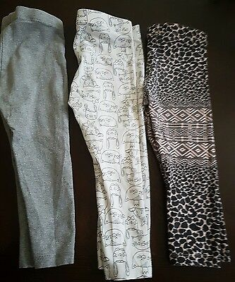 girls 12-18 months h&m leggings bundle x3 summer clothes bunny cat leopard next
