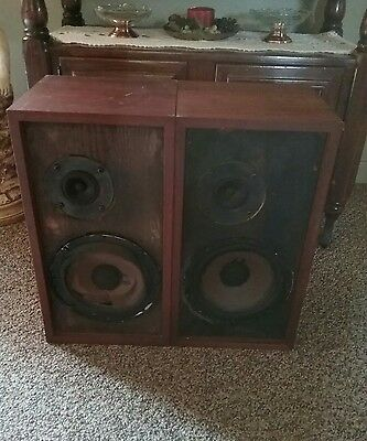 Pair Acoustic Research  AR-4X Speakers Vintage As-is FOR PARTS OR REPAIR