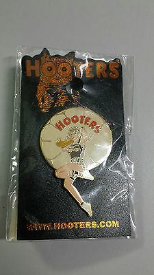 Hooters lapel pin, paratrooper, military, pin up girl, parachute, still packaged