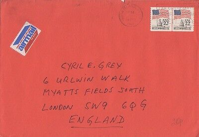 USA cover with 2 stamps