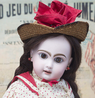 """21"""" (53 cm) Antique French All Original Brown-Eyed Bebe by Emile Jumeau Prodige"""