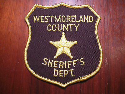 Westmoreland County Pennsylvania Sheriff/police Patch (Version One)
