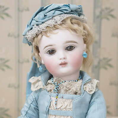 """14 1/2"""" (37 cm) Rare Antique French Doll by Joanny in original costume"""