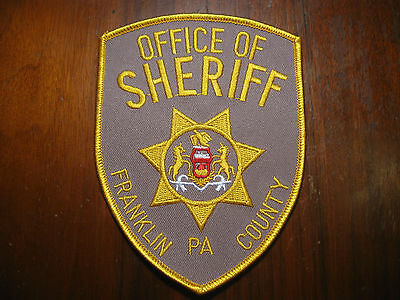 Franklin County Pennsylvania Sheriff/police Patch (Version Two)