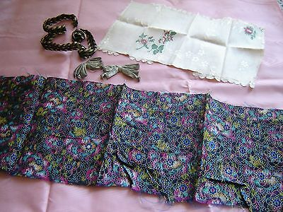 Lovely Lot Antique Trims and Textile Fragments - Liturgical & 1700s