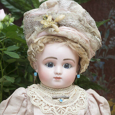 """18"""" (46cm) Rare Antique French Bisque Bourgoin Doll by Steiner Series C"""