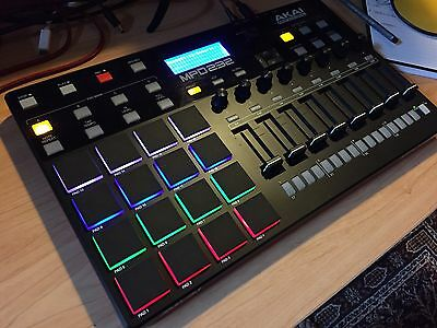 Akai MPD232 Midi Pad Controller and Control Surface (Boxed w/ Cables)