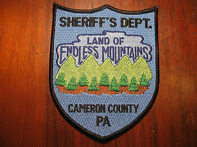 Cameron County Pennsylvania Sheriff/police Patch (Land Of Endless Mountains)