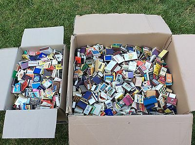 LARGE JOB LOT OF OVER 1000's VINTAGE Worldwide MATCH BOXES BOX