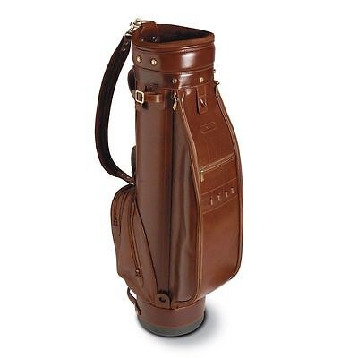 Chiarugi borsa da golf in pelle con tracolla italian leather golf bag conker