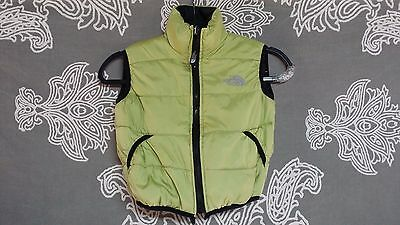 The North Face Toddle Green/Black Double Sided Puffer Winter Vest Sz S