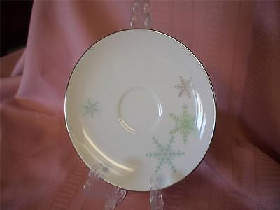 "Vintage 1956 Fine China Harmony House SNOWFLAKE Design Japan 6"" Saucer"