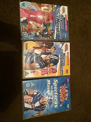 3 Lazy Town DVDs (used)