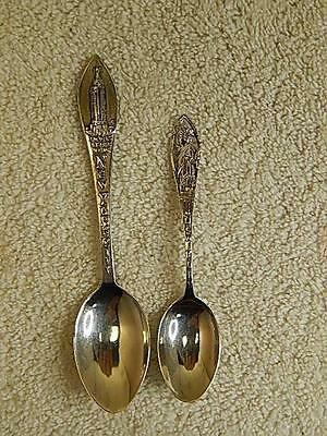 Sterling Silver Souvenir Spoons New York Statue of Liberty Empire State Building