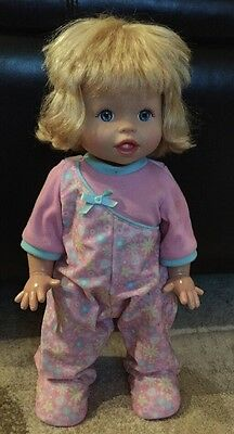 """2008 Fisher Price Little Mommy Walk N Giggle  Walking, Talking Baby Doll, 15.5"""""""
