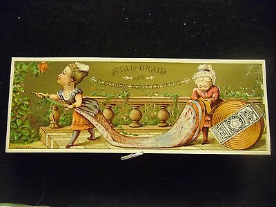 victorian trade card # 6488 - STAR BRAID - WATERING THE GARDEN - BOOK MARK