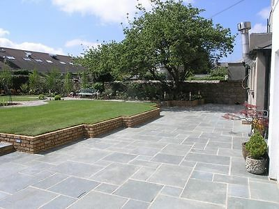 Kotah Blue Indian Limestone Paving Slabs (15.30m2 Patio Slabs) Garden Slabs