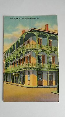 american postcards : LACE WORK IN IRON. NEW ORLEANS