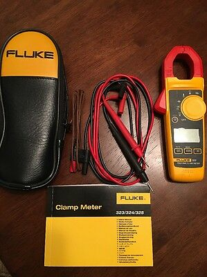 Fluke 325 400A Ac/Dc True-Rms Clamp Meter With Temperature