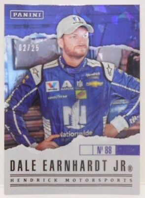2017 Panini Fathers Day Dale Earnhardt Jr SP Cracked Ice Insert Card # 2 / 25