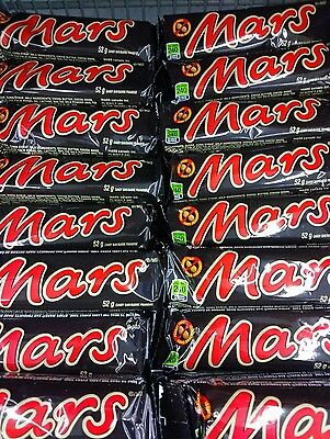 LOT OF 16 FRESH MARS 52g. CHOCOLATE BARS. A CANADIAN ICON.