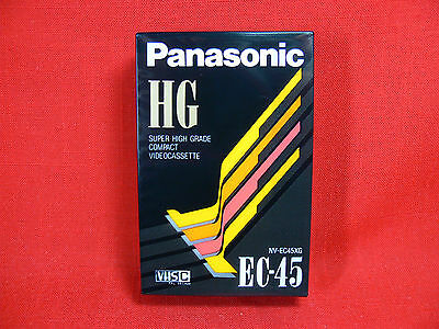PANASONIC EC-45 High Grade Blank VHS-C Video Camera Tape 45 Min - NEW & UNOPENED