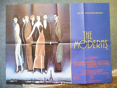 The Moderns Keith Carradine, wallace Shawn. Original UK Quad Poster