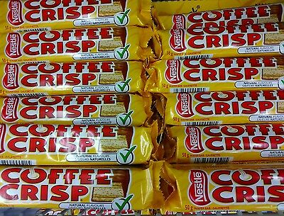 LOT OF 12 FRESH NESTLE COFFEE CRISP 50g. CHOCOLATE BARS. A CANADIAN ICON.
