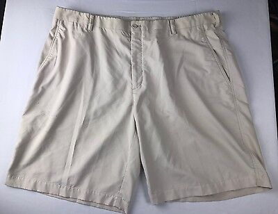 NIKE FIT DRY MENS GOLF CASUAL PLEATED FRONT SHORTS BEIGE size 42 L26