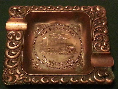 """Vintage Metal The Steamboat """"natchez"""" Made In U.s.a. Ashtray Ships Free"""