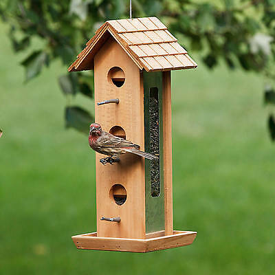 Perky-Pet Tin Jay Wood Wild Bird Feeder