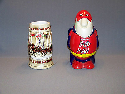 Budweiser 1981 Holiday and Budman beer stein CS50