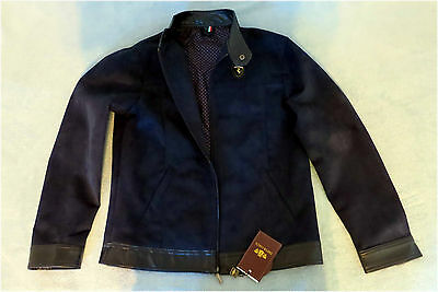 NWT, Emporio & Co. Men's Blue Fashion Jacket, Size L, Made in Italy
