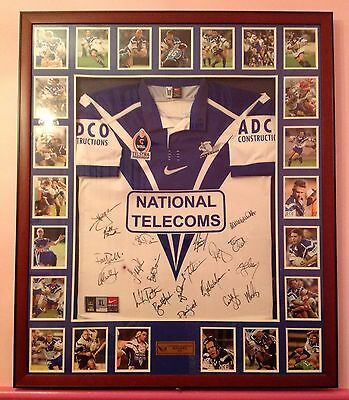 Canterbury bulldogs framed and signed jersey