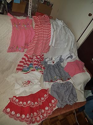 Bundle of Toddler Girls Clothes: Dresses Tops Cardi size 18-24 months